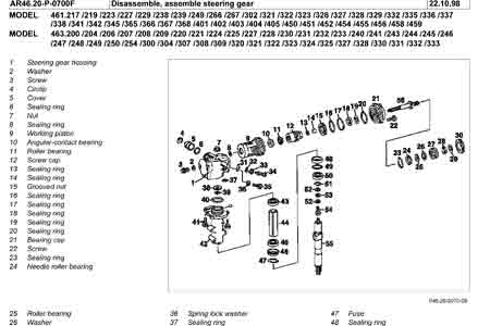 mercedes w460 w461 w463 steering box overhaul manual pdf rh fourbyfourclub com