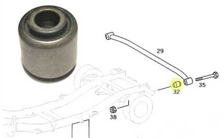 Mercedes W460 Panhard Rod Bushing.