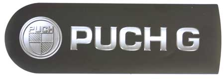 "Mercedes G-Class Spare Tire Cover Sticker ""PUCH G""."